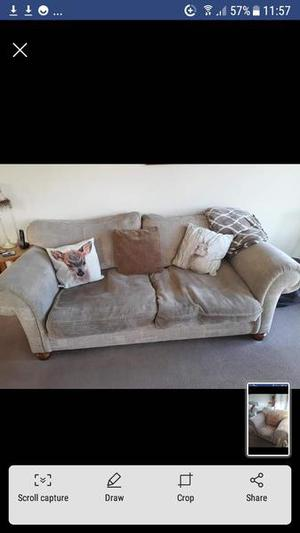 2 x 4 seater sofa and 1 chair