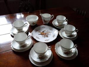 21 piece Fine Bone China Tea Service