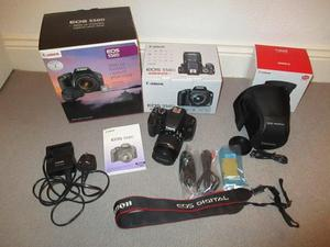 Canon EOS 550D DSLR Camera, Canon EFS mm Lens & Case