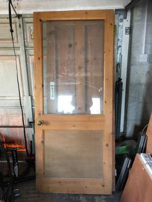 Half glazed interior door