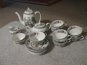 Johnson Bros Indian Tree Tea and Coffee Set