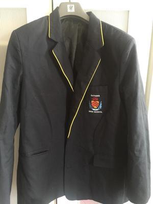 New Cathays High School uniform, blazer, jumper, tie
