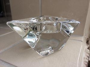 Orrefors Diamond shaped candle/night light holder