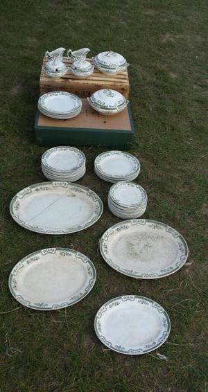 Antique vintage china dinner service plates