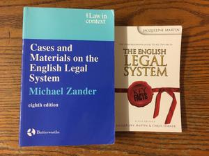 Law Books - The English Legal System x 3 books