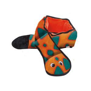 Outward Hound Snake Dog Toy Invincibles 6 Squeakers Orange