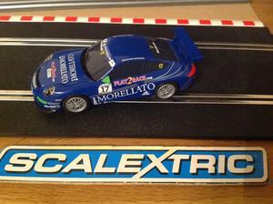 """SCALEXTRIC Blue PORSCHE 997 GT3 """"Morellato"""" DPR C"""