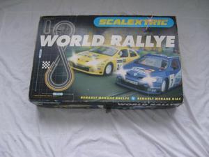 SCALEXTRIC WORLD RALLY RACING SET.