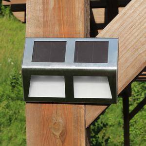 Sunnydaze Set of 6 Stainless Steel Solar Security Mounted