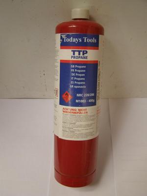 TTP Propane Gas 400g disposable cartridge