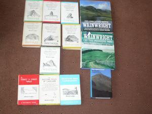 Wainwright Books of Lakeland Fells, Full Set of 7 books, and 6 more Wainwright books