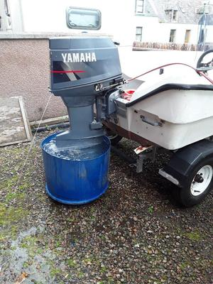 Used inflatable zodiac and yamaha engine posot class for Yamaha 30hp 2 stroke