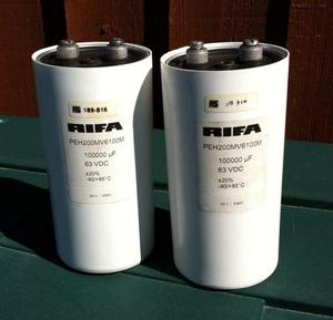 2 x CAN CAPACITORS uF, 63V for sale £ 42 ovno