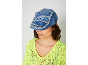 DARK BLUE DENIM FLAT CAP in Wolverhampton