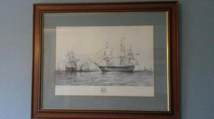 Framed prints of Royal Naval Historic Ships