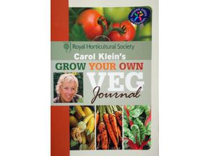 Grow Your Own Veg journal - a paperback book by Carol Klein
