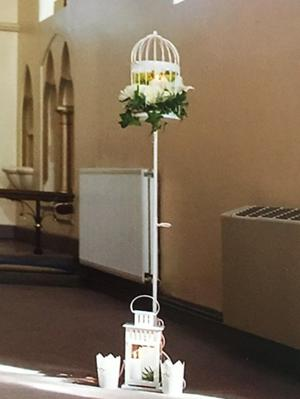 Pair of decorative birdcages for wedding