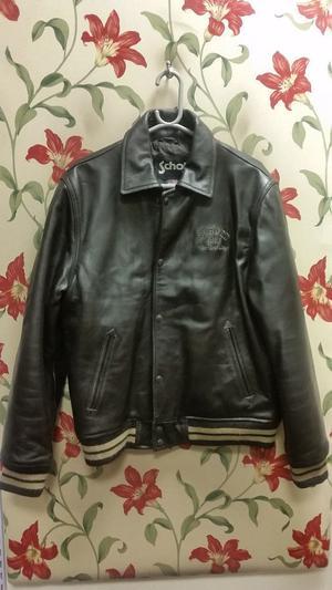 Schott men's leather jacket size large