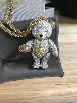 Vivienne Westwood chain and teddy bear pendant