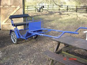 two wheeled exercise cart