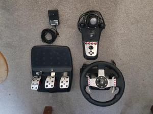 LOGITECH G27 STEERING WHEEL with Pedals and gear change