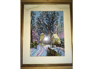 Tapestry Art Framed Picture Of A Woodland House in Havant