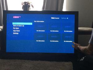"50"" Samsung plasma tv with tv wall bracket."