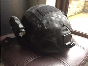 Black Patterned Airsoft Helmet with Light in Bristol