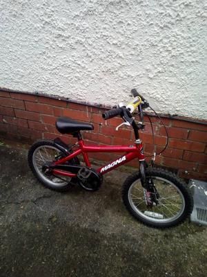 Boys bike 16inch wheels