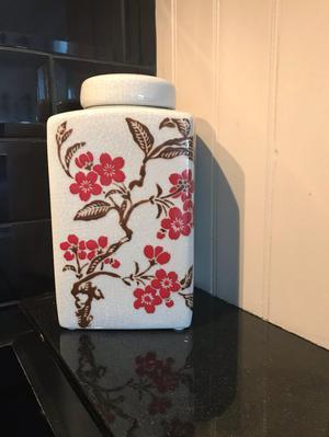 Ginger Jar Grey Crackle Glazed - India Jane style