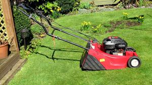 Motor Mower. Self Propelled With Rear Roller