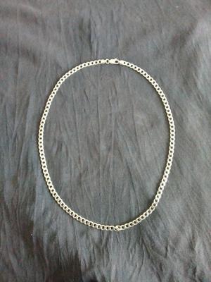 Silver Curb Chain.