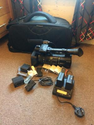 Sony z5e camcorder and accessories