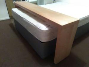 Wooden Bed Desk W/ Wheels REDUCED TO CLEAR