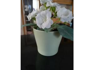 An Ikea Lime Green Flower Pot With Artificial in Havant