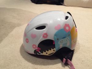 Girls ski helmet and goggles