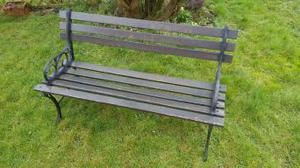 Metal and Wooden slatted Garden Bench