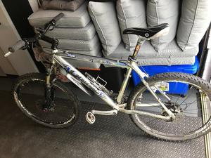 Orange silver Hardtail mountain Bike with high end equipment,