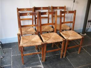 Set of 6 French dining chairs in Dorking