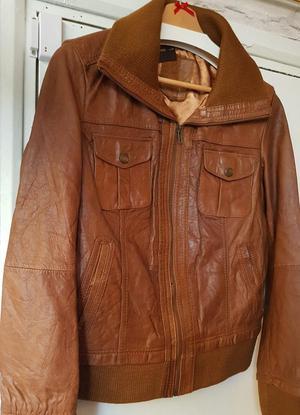 Sienna De Luca Italian Brown leather jacket