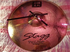 Stagg Drum Cymbal Upcycled Clock