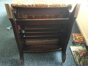 Vintage wooden base rocking chair