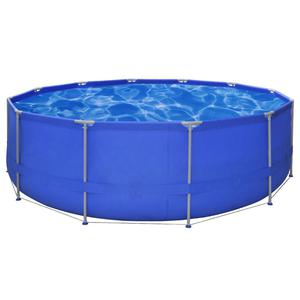 vidaXL Above Ground Swimming Pool Steel Frame Round 457 x