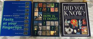 A bundle of 3 Large Bargain Readers Digest Books