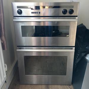 Electric double fan oven