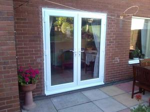 White upvc french doors posot class for French doors for sale uk
