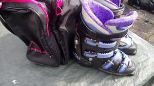 ROSSIGNOL LADIES SKI BOOTS. VISION. SIZE 7.5-8 UK. WITH BAG. USED.