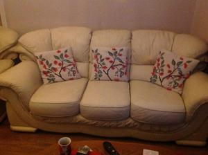 2 and 3 seater leather settees
