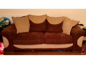 2x 4 seater sofas and foot stool in St. Austell