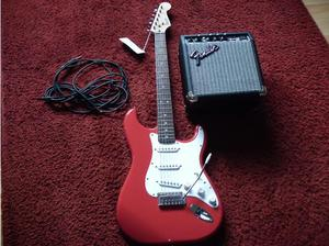 Fender Squier Stratocaster electric guitar with Fender
